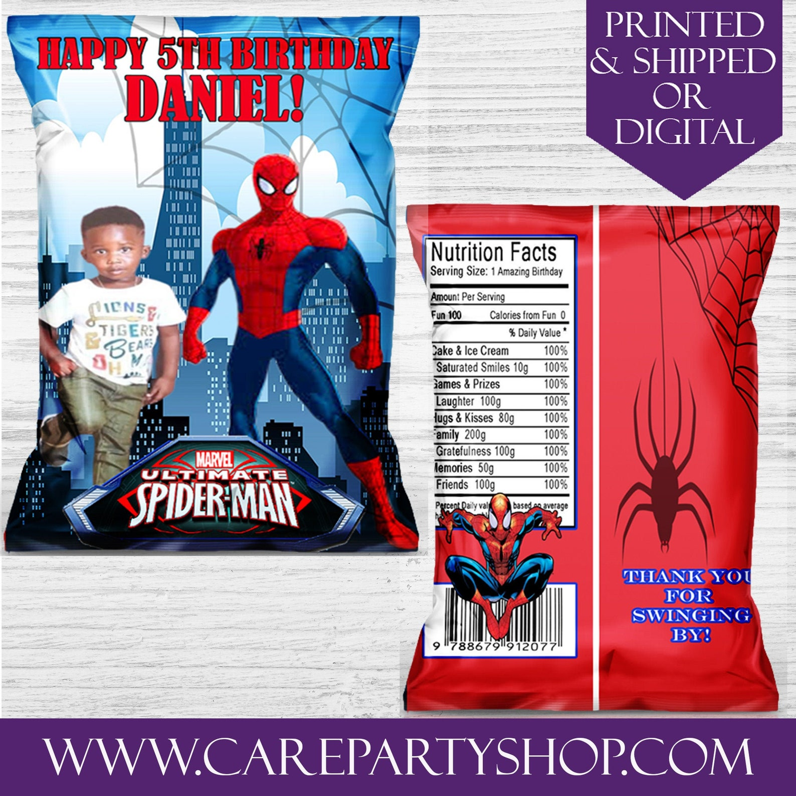 Spiderman Chip Bags