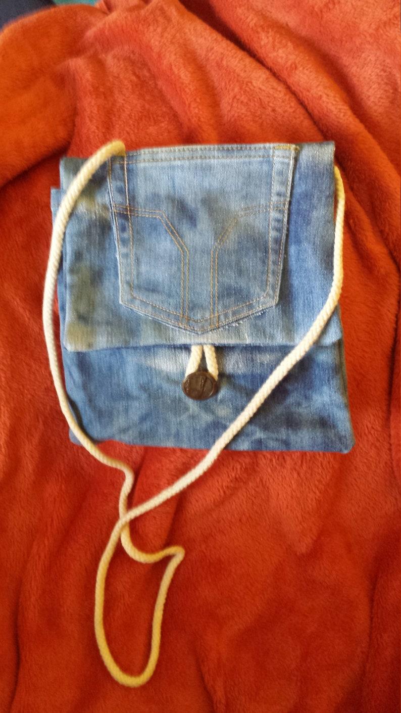 l'ultimo 5fd1c 591b3 Borsa a tracolla di jeans denim fatta a mano
