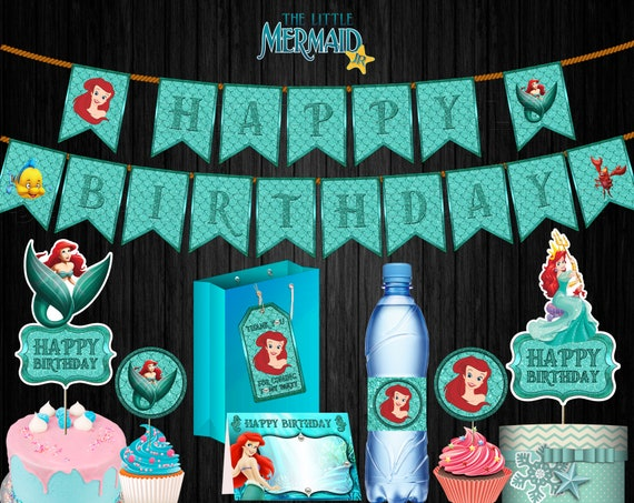 Little Mermaid Cake Decorating Supplies  from i.etsystatic.com