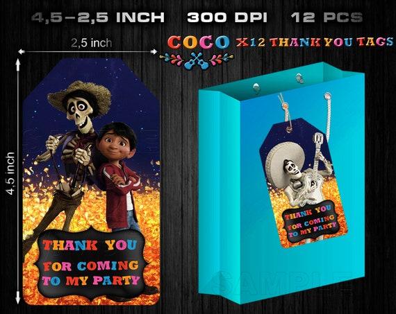 Coco Tags Party Favor Coco Printable Tags Birthday Thank You Tag DIY Printable Tags Thank You Cards Coco Brithday Party Labels Coco