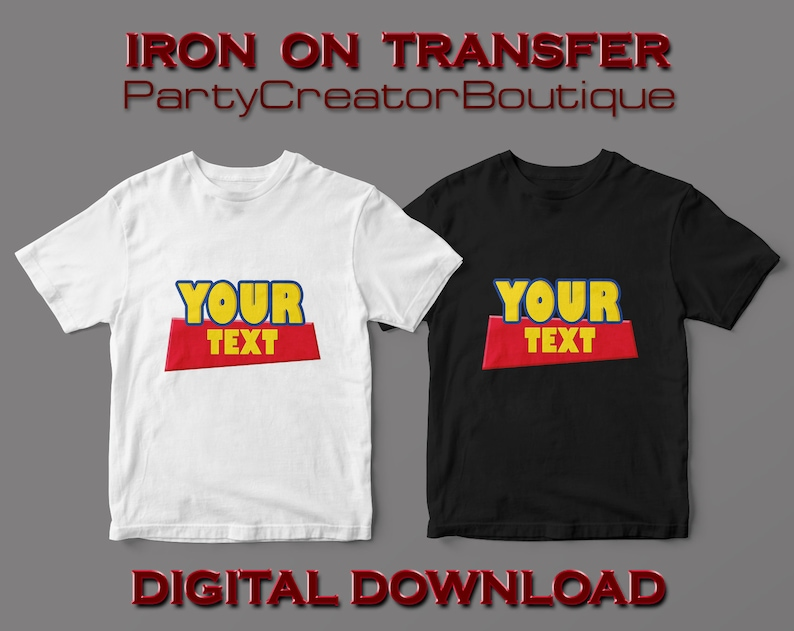 stencil printable digital party supplies birthday party decorations decals toy story iron on transfer custom diy shirt design vinyl