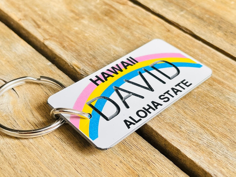 Licence plate keychain