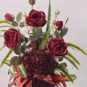 Silk Floral Arrangement For Cemetery Artificial Floral Etsy