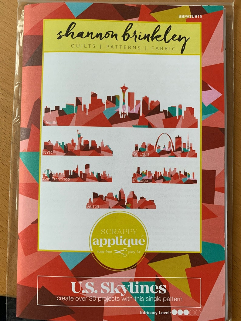 U.S Skylines Scrappy Applique Pattern designed by Shannon Brinkley