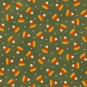 Happy Jacks and Friends Cream Candy Corn Flannel Fabric designed by Bonnie Sullivan for Maywood Studio Fabrics