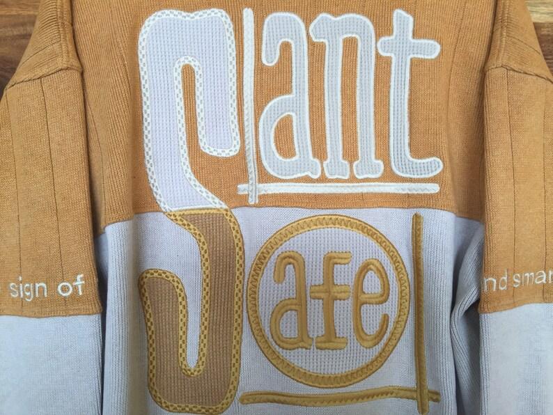 Vintage 90s Santa Fe Colour Block Sweatshirt Embroidered Logo Santa Fe Sweater Pullover Santa fe Knitwear Santa Fe Jumper Santa Fe Shirt