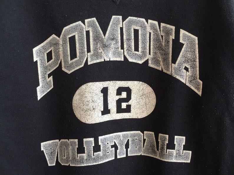 Vintage 80s Pomona Volleyball Sweatshirt 80s Russel Athletic Sweatshirt Black Color Pomona Volleyball Crewneck Number 12 Womens Shirt
