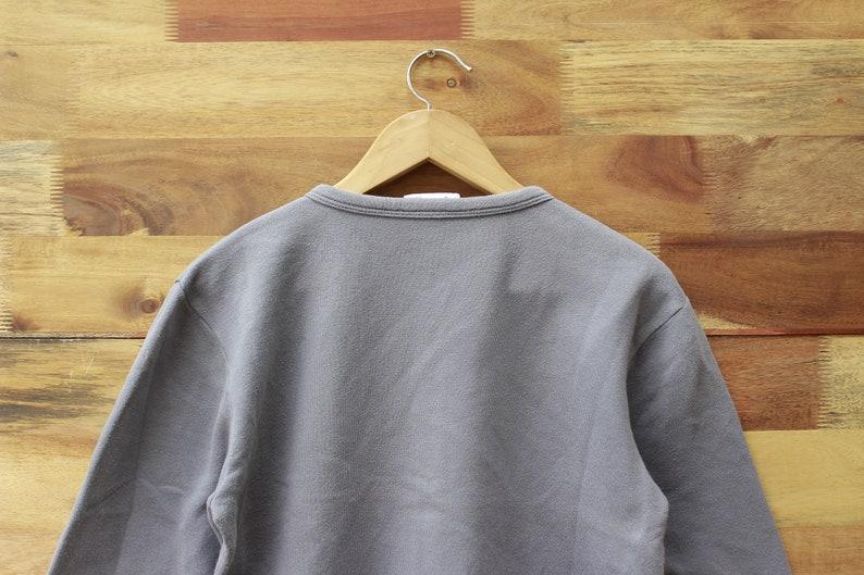 Vintage 90s Agnes B Paris Cardigan Gray Color Agnes B Paris Cardigan Snap Button Plain Color Woman Cardigan Top Shirt Woman Fleece Cotton