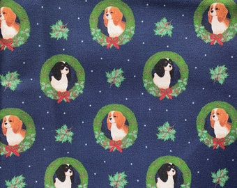 Cavalier King Charles Spaniel Tea towels, handmade in USA, Cotton towels, Dog family gifts, Cavalier King Charles Christmas