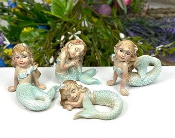 Miniature Nautical Buoys in Red and Blue ~ Beach Fairy Garden Accessories ~ Terrarium Figurines ~ Coastal Beach Wedding Cake Toppers