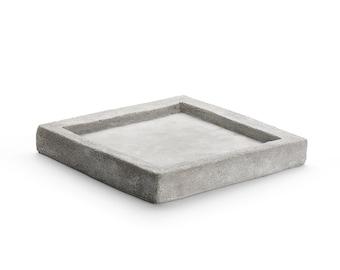 "Zen Sand Garden Plate Square, 7"" Diameter, Mini Zen Garden, Desktop Zen Garden, DIY Zen Garden"
