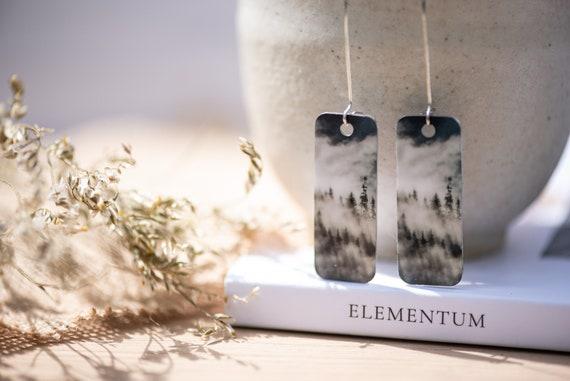 Misty forest drop earrings