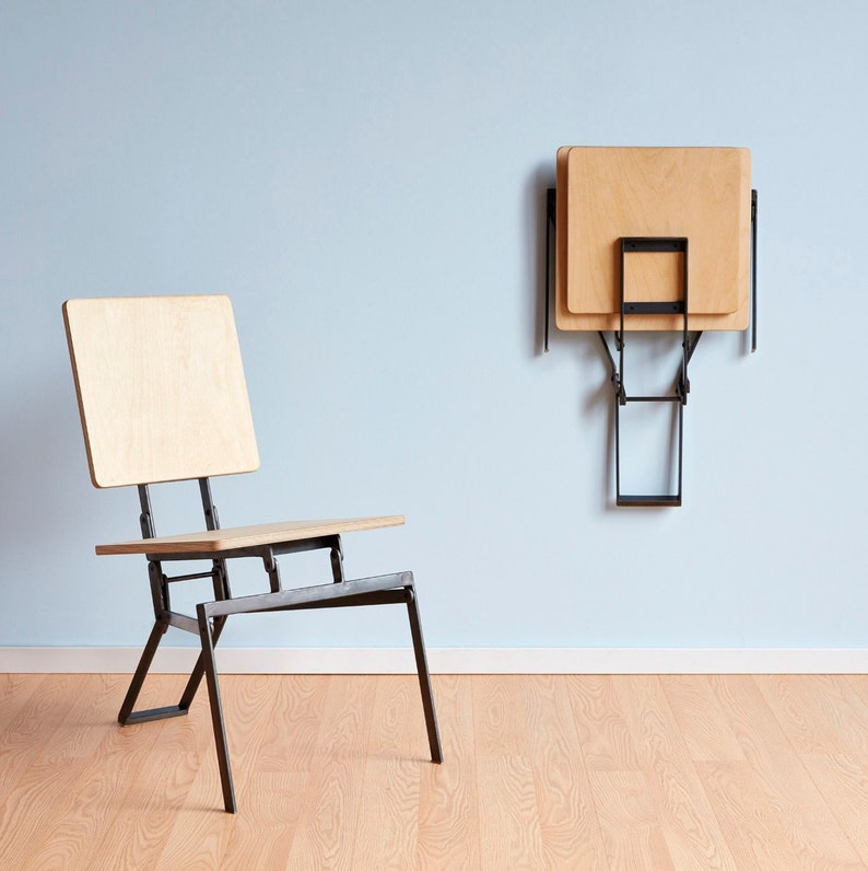 Modern Folding Chair, Unique, Architectural, Hang Able