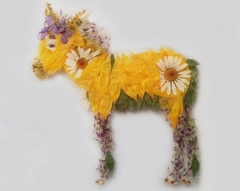 gift card flower wall stationary Christmas cards donkey art flowers cards donkeys Note Cards garden decor donkey gift