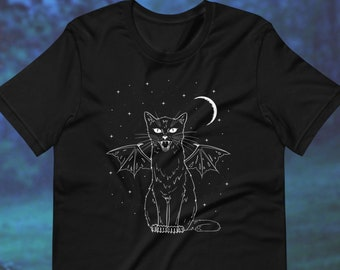 Black BatCat Hood with Ties