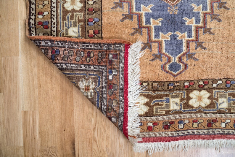 Area Rug Wool Rug 3.4 x 5.5 ft Turkish Rug Entryway Rug Antique Rug Ethnic Rug Vintage Turkish Rug Vintage Anatolian Rug