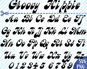 Groovy font | Etsy