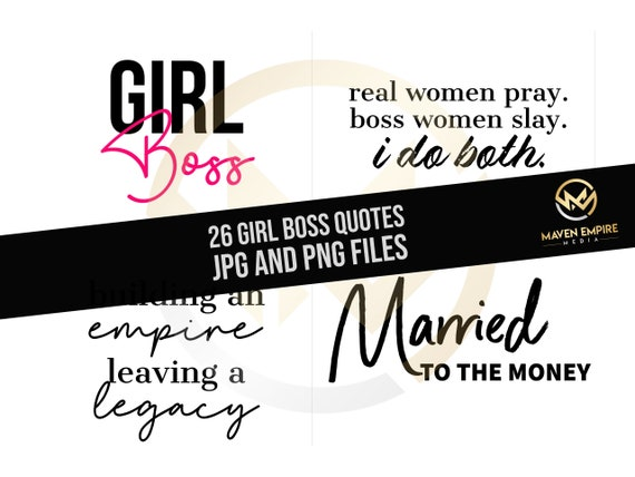 26 Girl Boss Instagram Quotes Lady Boss Social Media Boss Lady Blogger Feminine Branding Boss Babe White Black Gold Pink Premade Influencer