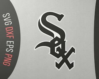 a6f8a05d098 Chicago White Sox White Sox baseball White Sox svg White Sox logo Chicago  baseball I love chicago Baseball svg Chicago digital Baseball svg