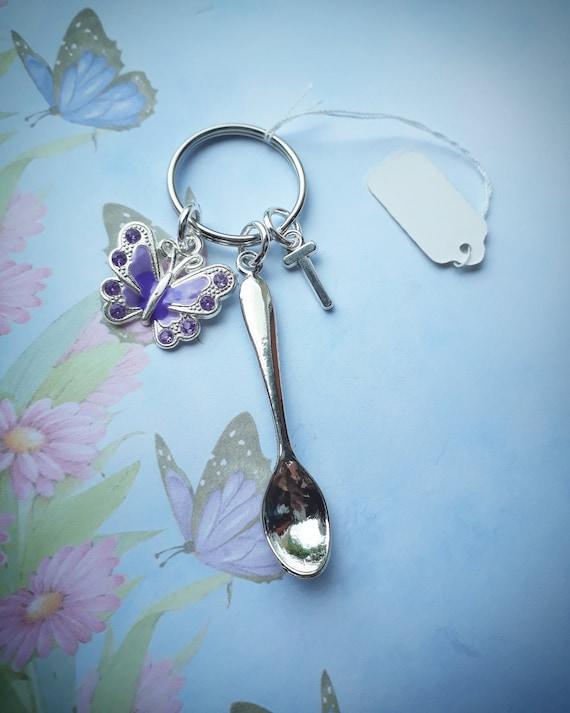 Big spoon keyring Spoonie gifts fibro ME eds lupus autism