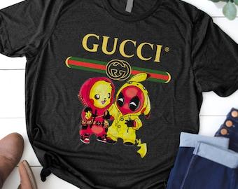 75f0c38c6e9cf Deadpool Pikachu Gucci Pokemon t shirt Cute shirt Cute Gift, Deadpool  Pikachu Gucci Pokemon t shirt, Snorlax t-shirt, Just do it Later Shirt