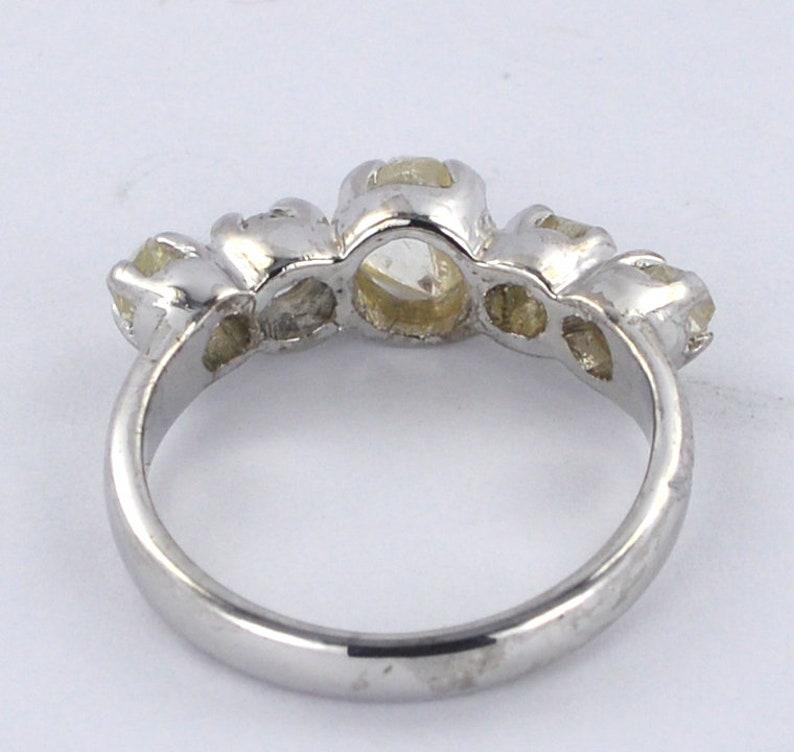 1.50 CT Natural Rough Diamond 925 Sterling Sliver Ring 9101418K Rose,Yellow,White Gold Ring