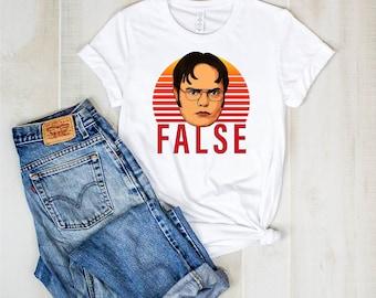 32c4bb22e Dwight Schrute False T Shirt - The Office Shirt - Dwight Schrute - Office  Fans - False T Shirt - Office Shirt