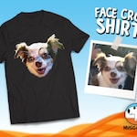 Custom Face Shirt, Cropped Faces T-Shirt, Shirt With Cut Faces, Photo Face Tee-Shirt, Personalized T-Shirt, Funny Customized TShirt Gift