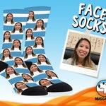 Unique Gift For Man, Birthday Gift For Mom, Face Sock, Gag Gift For Man, Customizable Sock, Girlfriend Gift, Photo On Socks Personalize Sock