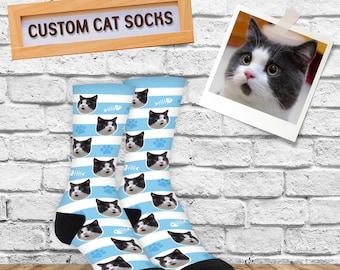0c61c0e2e Custom Cat Socks, Custom Cat Gift, Gift For Cat Lover, Cat Mom Gift, Gift  For Cat Owner, Crazy Cat Lady Gift Socks, Birthday Present Idea