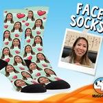 Custom Face Socks, Customized Gift For Her, Birthday Gift For Girlfriend, Funny Anniversary Gift, Personalized Face Socks For Best Friend