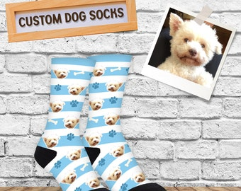 Custom Dog Gift Socks, Customized Dog Socks, Custom Pet Gift, Birthday Gift For Dog Lover, Unique Dog Gift Present Idea, Gift For Pet Lover
