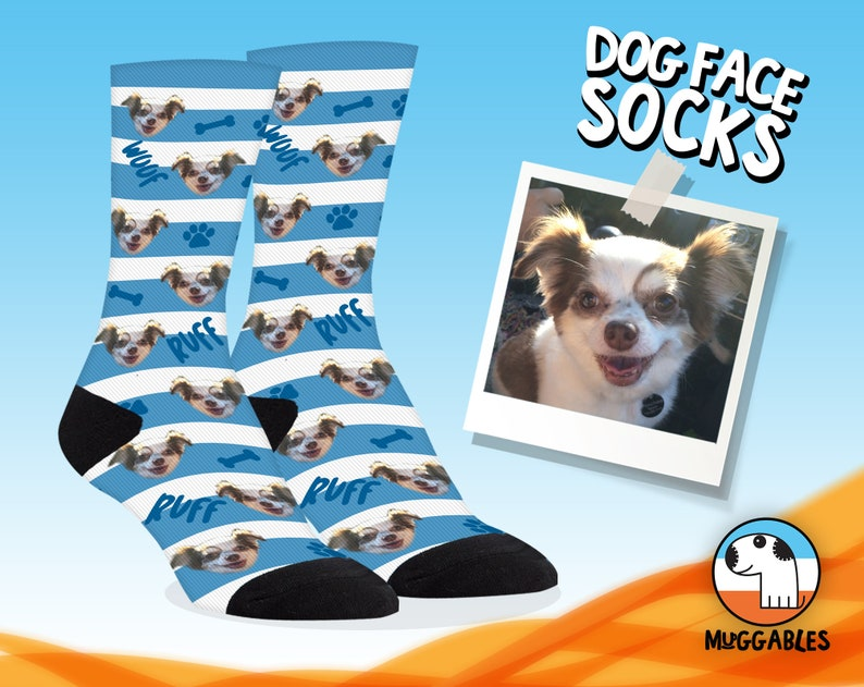 Custom Dog Socks Personalized Dog Gifts For Owners New Dog image 0