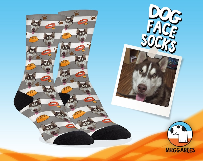 Dog Face Crop Socks Custom Dog Socks For Owners Funny Pet image 0