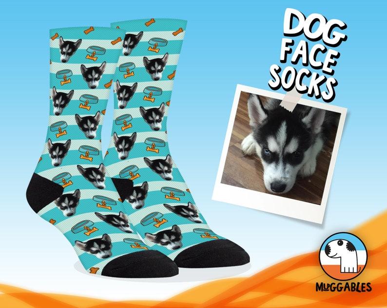 Custom Dog Gift Face Socks For Dog Lover Personalized Dog image 0