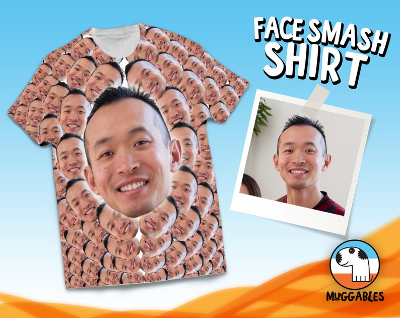 Custom Face Shirt Faces T-Shirt Shirt With Faces Photo Face image 0