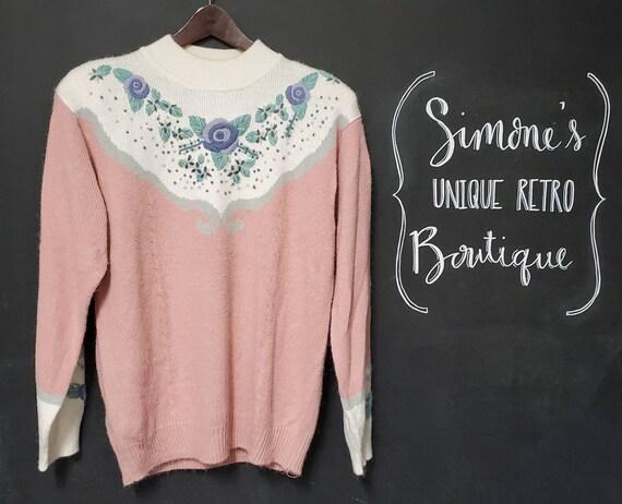 Vintage Floral Cottagecore Sweater