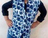 Block printed Indian Quilted Jacket, Sleeveless Cotton Reversible jacket,Cotton coat, Summer jacket with pockets,Casual jacket, Light jacket