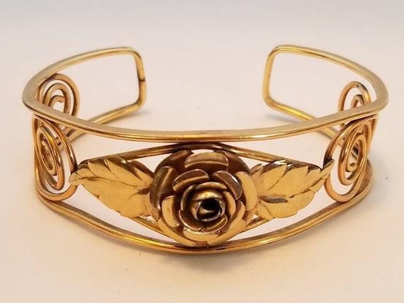 Vintage 12k Gold Filled Cuff Bracelet