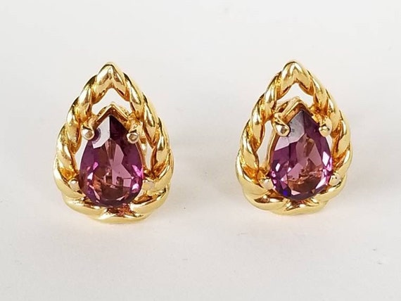Vintage Christian Dior Gold Clip on Earrings with