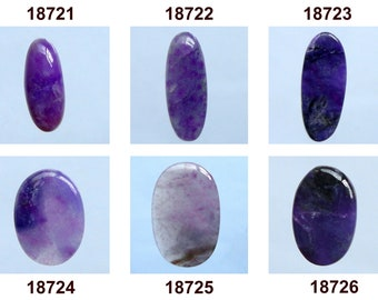 Designer Cab Gemstone Supplies AG-3431 Oval Shape Sugilite Stone For Jewelry Making Top Quality Rare South Africa 17Ct Sugilite Cabochon