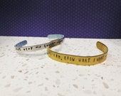 Hand-stamped BTS Lyrics on Bangle
