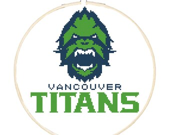 Vancouver Titans Vinyl Decal Sticker