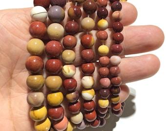 10mm Faceted Mookaite Jasper Natural Gemstone Bead for Spiritual Health Wellness Beads
