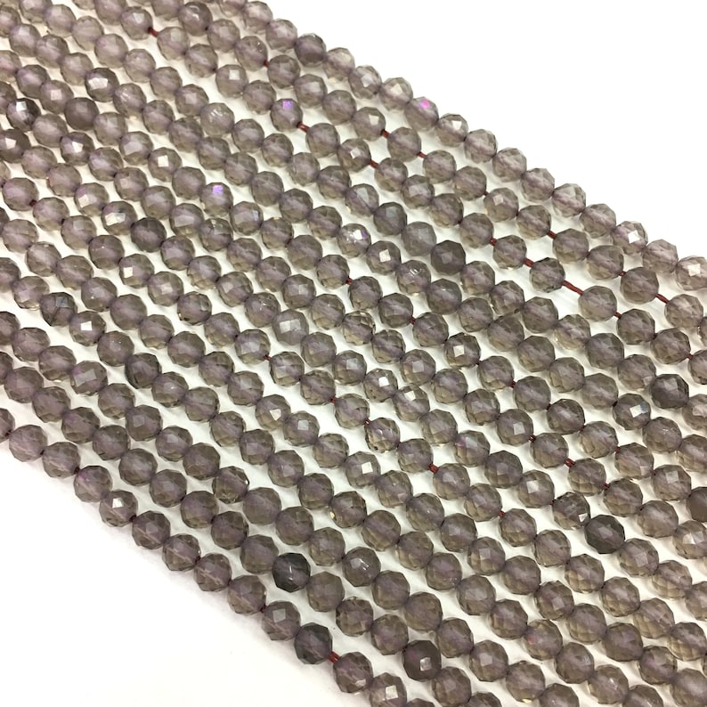 Natural Smoky Quartz Faceted Round beads Energy Gemstone Loose Beads DIY Jewelry Making Design for Bracelet AAA Quality 6mm 8mm 10mm 12mm