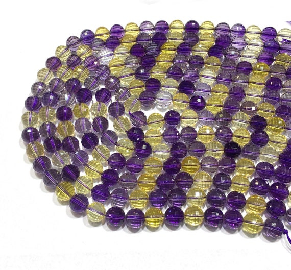 """AAA 4mm Faceted Russican Amethyst Round Gems Loose Beads 15/"""""""