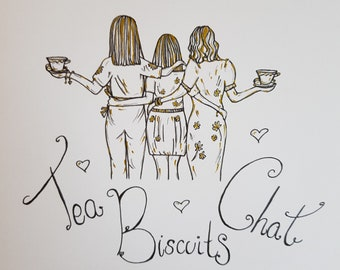 Personalised Friendship drawings - Made to order.