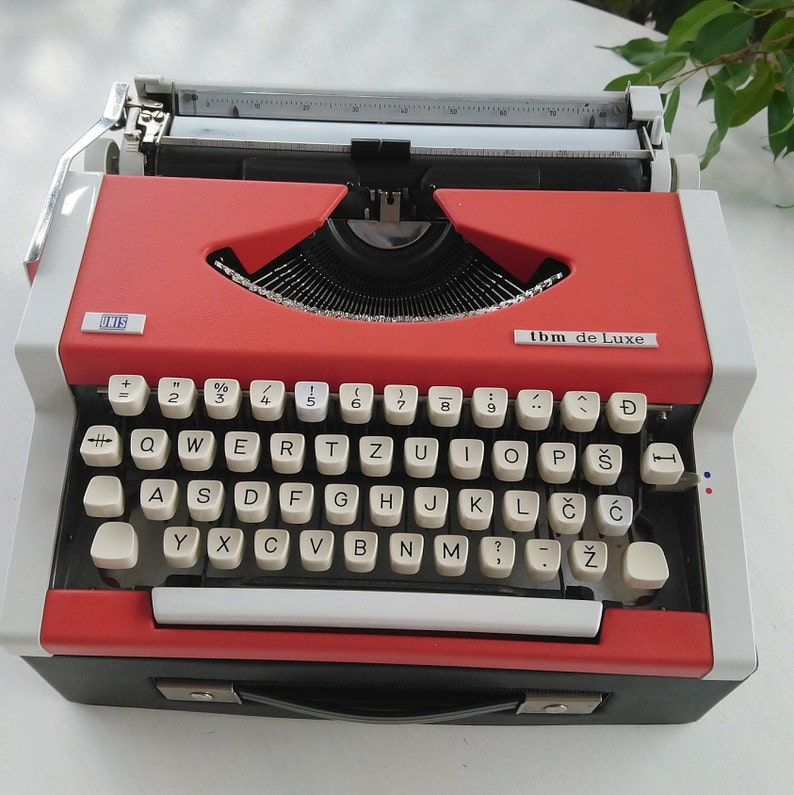 RED PRICE for BLACK December  Typewriter  Vintage Typewriter  Unis Typewriter  Typewriter Office Red typewriter  unis red traveller
