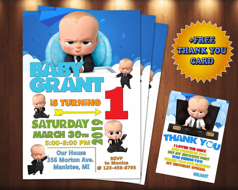 Boss Baby Invitation Boss Baby Birthday Invitation Boss Baby Party Boss Baby Birthday Boss Baby Invitations Boss Baby Personalized