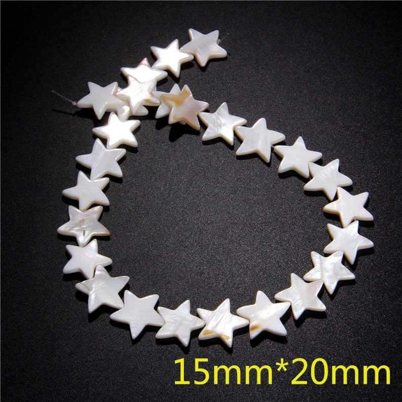 8-9mm Star Mother of Pearl Beads,Natural White Shell Beads,Five-Pointed Star Shell Beads,Pearl Shell Bead for Jewelry Making Diy 15 Strand